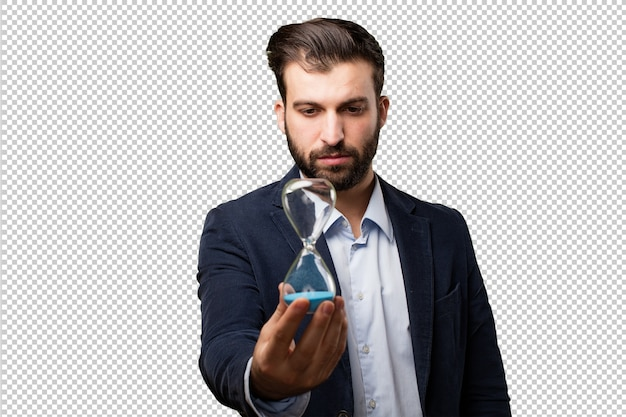 Senior beautiful woman listening
