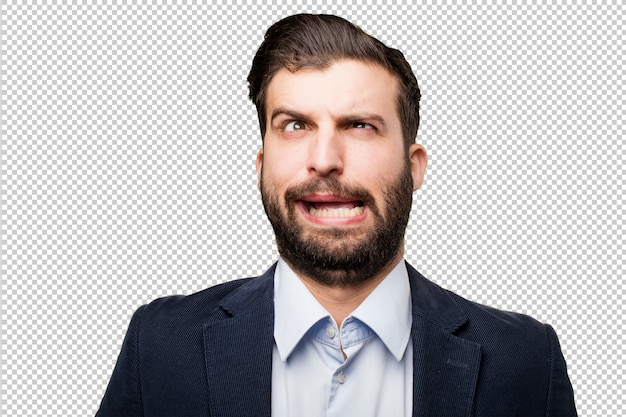 현수막과 수석 아름 다운 여자 프리미엄 PSD 파일