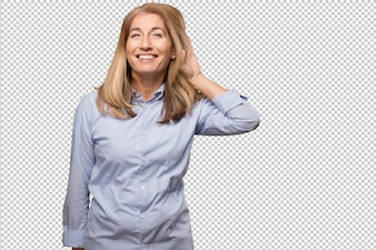Senior beautiful woman with boxes