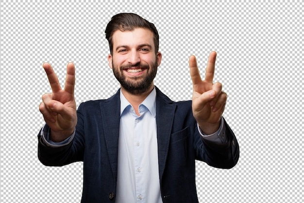 Senior beautiful woman with a gun