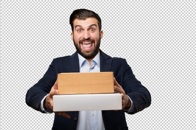 Senior beautiful woman with a red car