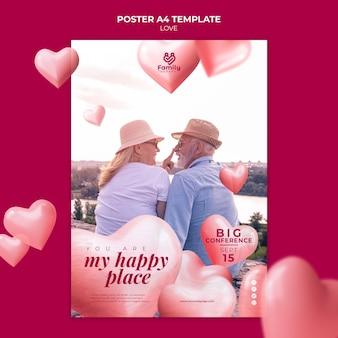 Senior couple poster