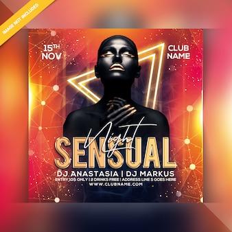 Sensual night party flyer