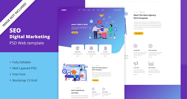 Seo digital marketing  web template