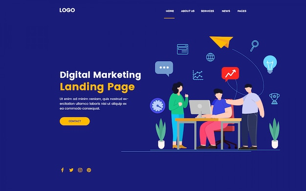 Целевая страница цифрового маркетинга seo