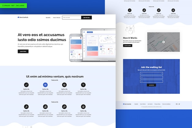 Service hub website page template