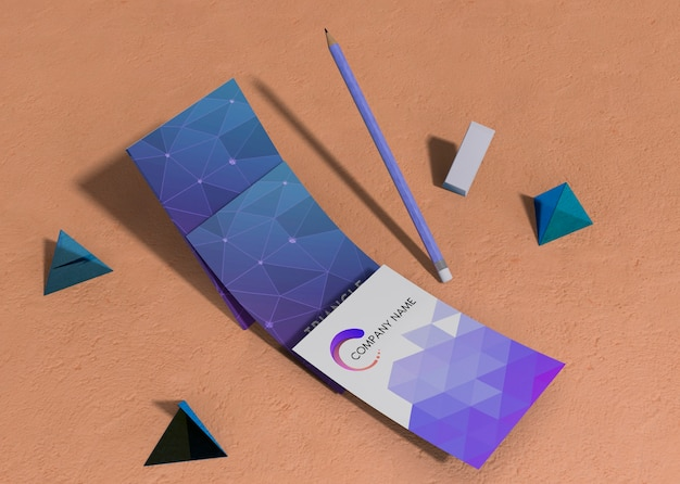 Set of business corporate identity mock-up ad geometrical shapes