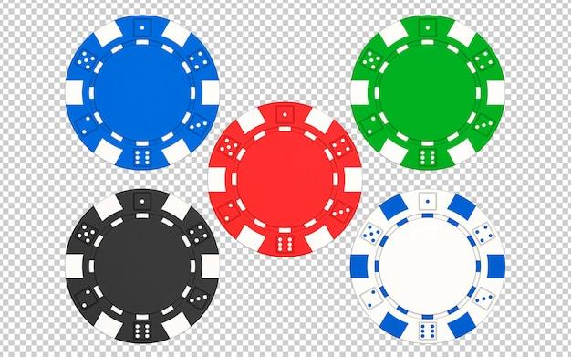 Set of casino poker chips