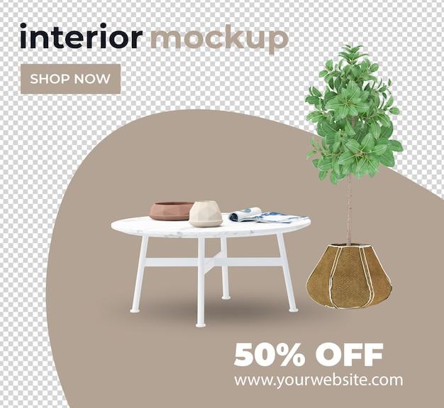 Набор стул диван завод украшения интерьера набор в 3d визуализации макет
