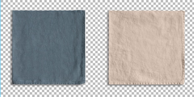 Set of colored placemats for serving food isolated on transparency.