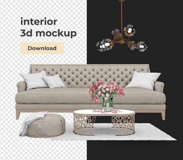 Set decoration design with modern style isolated Premium Psd