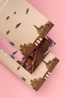 Set of different book mock-ups