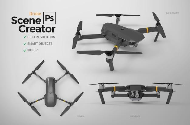 Set of drones. Premium Psd
