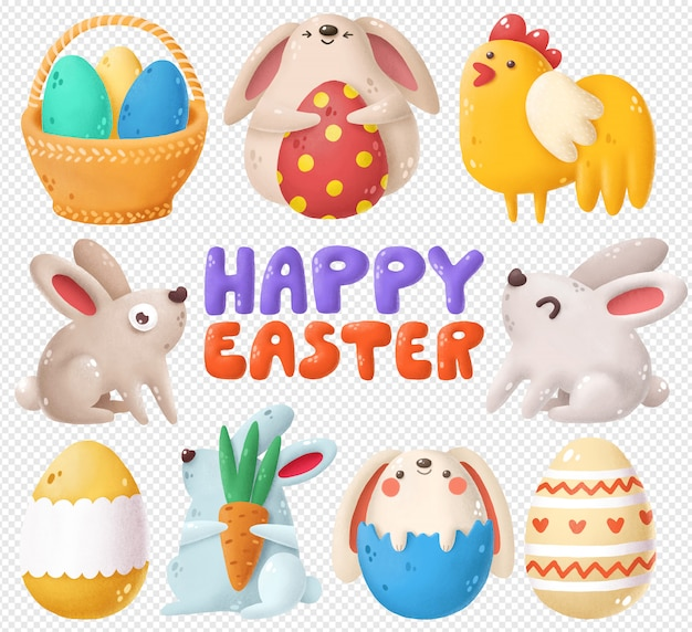 Set of easter clipart