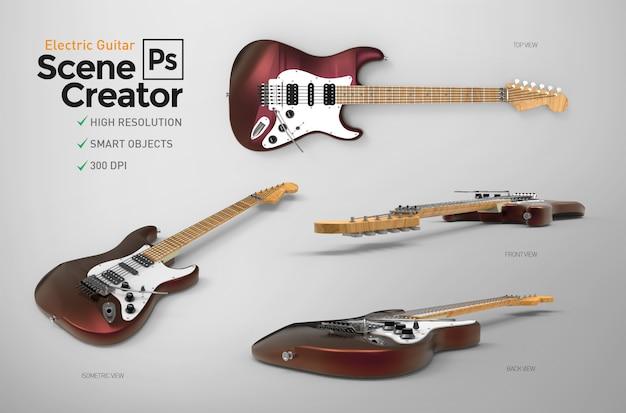 Set of electric guitar