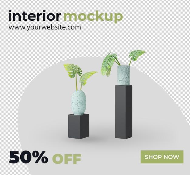 Установить интерьерную отделку 3d визуализации макет