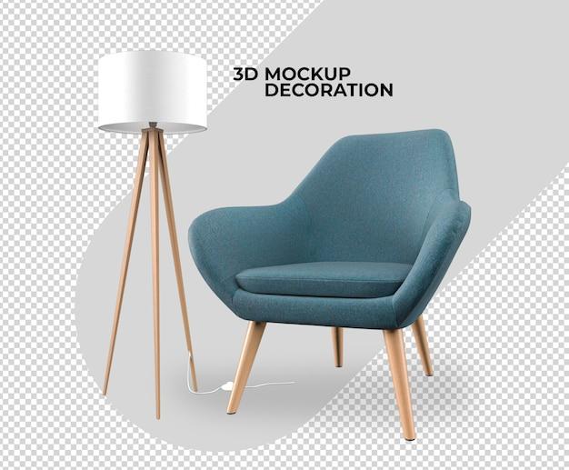 Set interior decoration mockup rendering