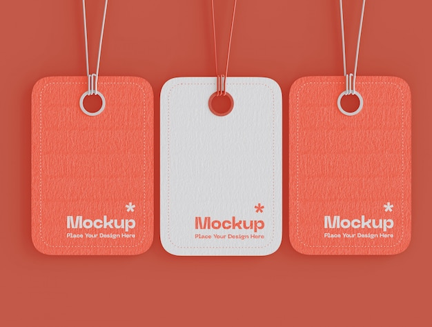Set of label price tags mockup