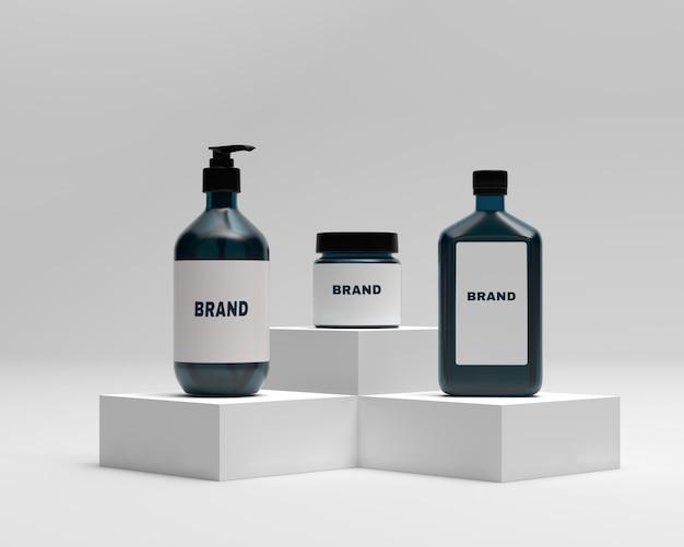 Set of lotion bottles mockups