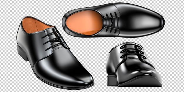 ファッションエレガントな黒のメンズシューズのセット
