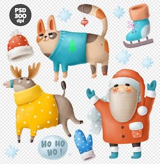 Набор рождественских персонажей