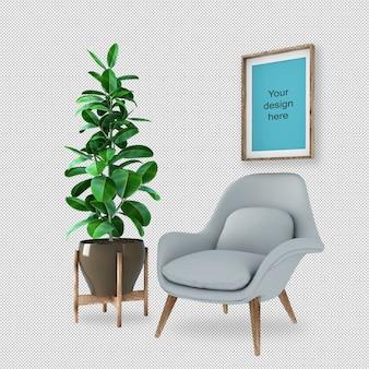 Набор мебели для интерьера макет рамы