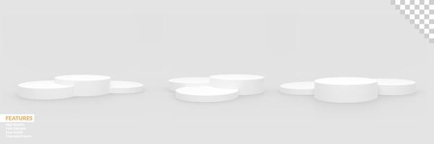 Набор реалистичных пустых сцен на подиуме со сменным фоном
