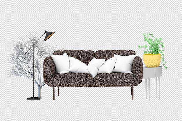 Набор диванного кресла и украшения рамок