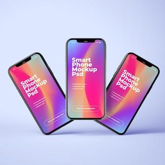 Набор из трех телефонных макетов