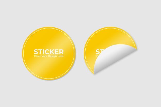 두 개의 접착 스티커 모형 세트