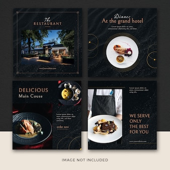Set of restaurant banners