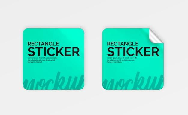 Set of  stickers mockup