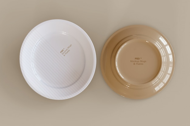 Set of two plates mockup