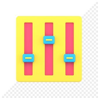 3d 아이콘 설정
