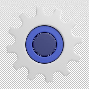 Settings gear icon 3d illustration