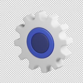 Settings icon 3d illustration