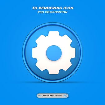 Значок настроек в 3d-рендеринге