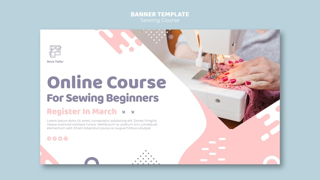 Sewing course banner template