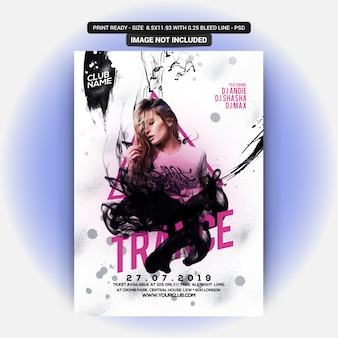 Sexy girl party flyer