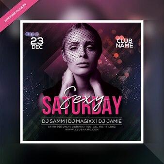 Sexy saturday night party flyer
