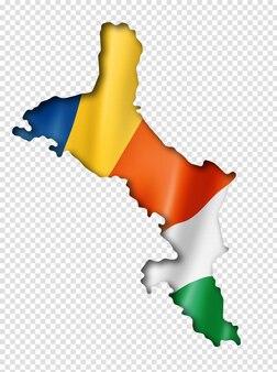Сейшельские острова флаг карта
