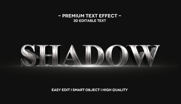 Shadow 3d text effect template with flare