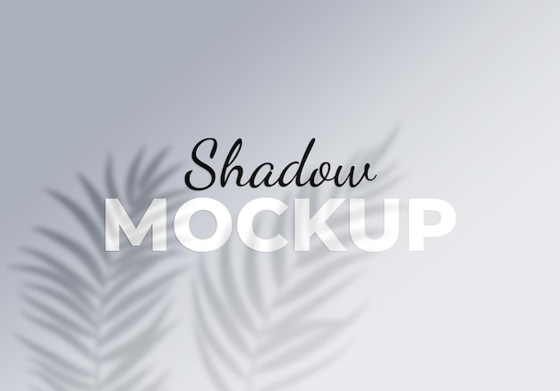 Shadow of leaves design element