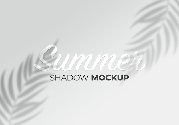 Shadow mockup of leaves design element