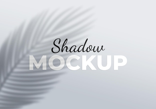 Shadow mockup of palm leaves design element