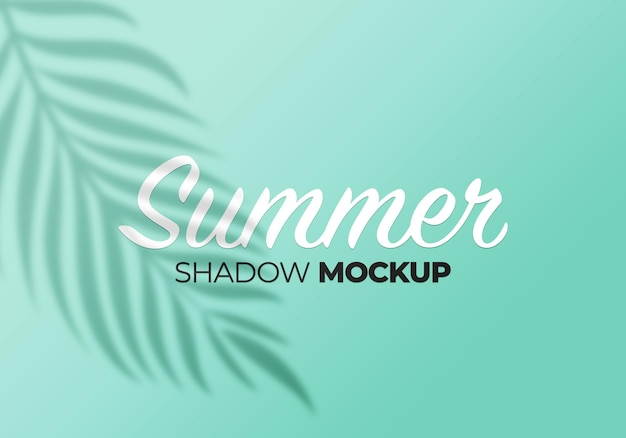 Shadow mockup of summer palm leaves on a wall