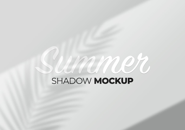Shadow mockup on a wall with palm leaves