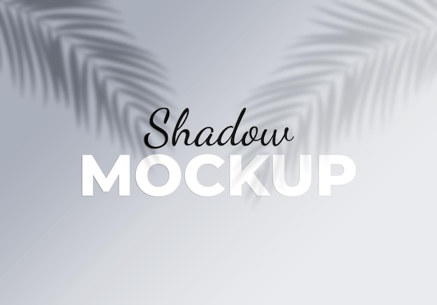 Shadow overlay effects with tropical leaves background