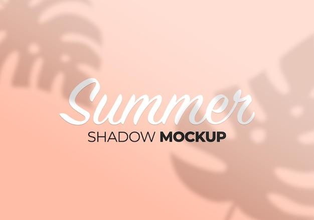 Shadow overlay mockup on wall