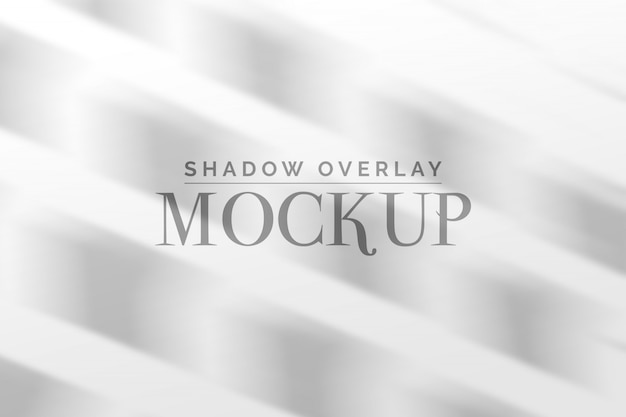 Shadow overlay mockup